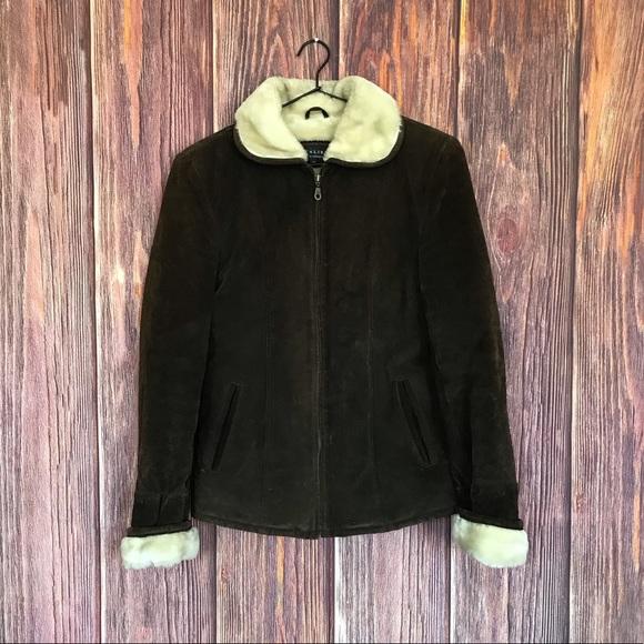 Caliber Jackets & Blazers - Caliber Leather Faux Fur Jacket